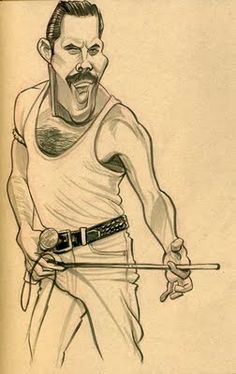 Freddy Mercury by Zack Wallenfang