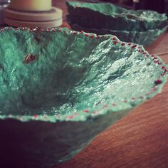 A personal favorite from my Etsy shop https://www.etsy.com/listing/485019884/handmade-paper-christmas-bowl