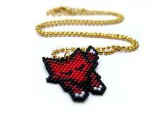 Sleeping Red Fox Necklace By AmaltheaCph, Danish design Www.amaltheacph.etsy.com