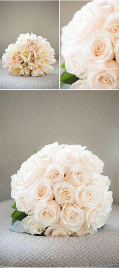 Ivory Bouquet Beauties | A Pasadena Wedding Photographed by Eileen Liu via StyleUnveiled.com
