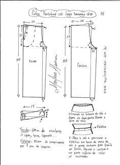 pantalones esquema de modelado Pantalona cintura de gran tamaño XL.