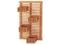 Image result for floreira de parede de madeira