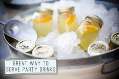 Country party mason jar drinks!