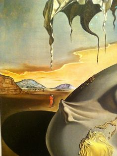 Dali - Geopoliticus Child Watching the Birth of the New Man (detail), 1963 - The Dalí Museum, St Petersburg, FL
