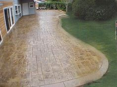 Stained Stamped Concrete Patio