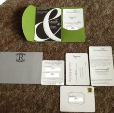 DIY Pocketfolds/ Invites......Tutorial and Advice!! :  wedding diy green invitations pocketfolds IMG 0218.JPG Clean