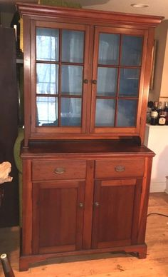 ANTIQUE 19C  Pie Safe Jelly Cupboard Cabinet China Cabinet 1880.  2 piece  #country #Unknown