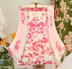 Shabby Chic Lampshade Pink French Lamp Shade to by lampshadelady