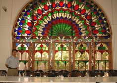 Stained glass window of historic Heyderzadeh house, Tabriz , East Azerbaijan- Picture by Nasser Alikhani