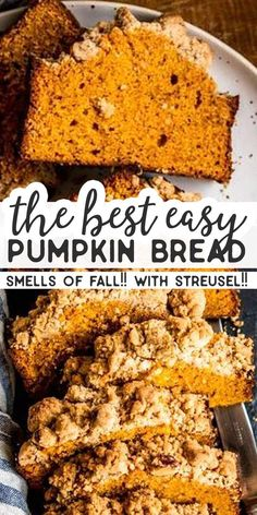 How To Make Tortilla Chips This Is An Easy Recipe For A Moist And Fluffy Pumpkin Bread That Will Have Everyone Begging For More It's Made With The Best Cinnamon Pecan Streusel Topping For Extra Crunch and Flavor. A Simple Treat, Totally From Scratch, That Weight Watchers Smoothies, Cinnamon Pecans, Cinnamon Bread, Streusel Topping, Monkey Bread, Dessert Bread, Pumpkin Dessert, Sweet Bread, Fall Recipes