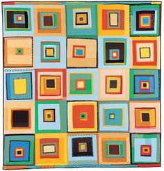 One of Denyse Schmidt's many gorgeous quilts. Read more here: http://www.sewlavie.com/2011/10/progressive-quilts.html