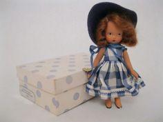 Vintage Bisque NASB #109 Betty Blue, w/original box, Nancy Ann Storybook Doll