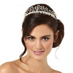 Crystal pearl tiara