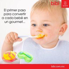 Nuestros sets de alimentación están especialmente diseñados pensando en las manitas de tu bebé :)   www.bibi.com.mx