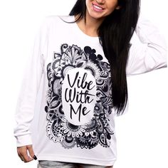 Click to buy.  Vibe with me Tee. WELCOME TO YOUR VORTEX | The ultimate compilation of quality LOA material online. law of attraction, spiritual, quantum physics, coincidence, synchronicity, attract, money, lover, relationships, the secret, affirmations, vision board, soul mate, Abraham Hicks, lottery, manifest, visulisation, specific person, Universe, wealth, gratitude, vibration, frequency, energy, magic, alignment, abundance, rich #LOA #abundance #rich #manifest #spiritual, yoga…