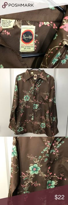 Vintage Men's Floral Button Up Vintage Men's Floral Button Up...Offers considered. Shirts Casual Button Down Shirts