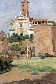 The Forum, Rome by Vanessa Bell ca.1935