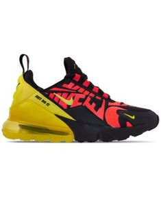 01cafafb98b Nike Boys  Air Max 270 Embroidered Casual Sneakers from Finish Line - Black  3.5