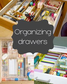 Free organization printables and tips. Drawer Organization ideas #organize #organization