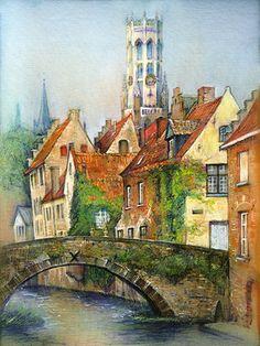 Bruges, Belgium, old town collection, Olga Krasovska
