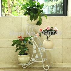 Iron flower stand balcony flower pot holder French flower-in Flower Pots & Planters from Home & Garden on Aliexpress.com | Alibaba Group
