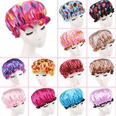 Femmes Étanche Bonnet De Douche Belle Impression Élastique Bonnets De Douche pour Dames Fille Chapeau Cheveux Bain Spa Salon Bonnets De Douche