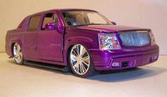 Purple Cadillac Escalade