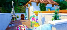 """bobnpancakes: """" b'n'p selvadorada villa hiya, folks ✌️ i'm so in love with this new pack, that i just couldn't stop myself! it's a tiny villa in selvadorada for two sims to stay when they visit this..."""