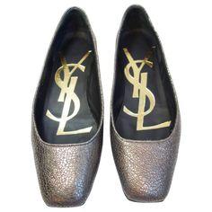 YSL YVES SAINT LAURENT SAHARIENNE VULCANO Ballet Flats Shoes Size 35 | 1stdibs.com