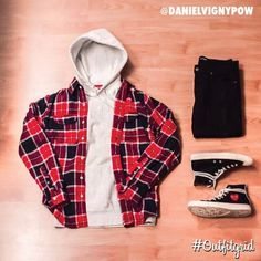 Outfitgrid started as a way of bringing the community together to showcase style. Flannel Fashion, Tomboy Fashion, Fashion Outfits, Men's Fashion, Cdg Converse, Outfits With Converse, Swag Outfits Men, Cool Outfits, Casual Outfits