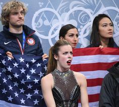 That face lol Ashley Wagners reaction to her score after her short program during the team figure skating event at the sochi 2014 Olympic Games