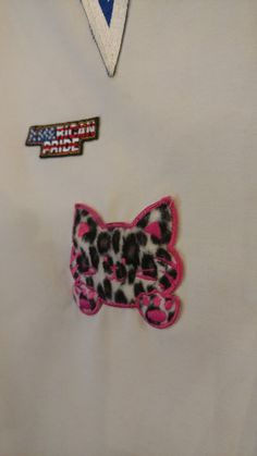 Fuzz Kitty... an extraordinary patch shirt! by CurvyGirlRanch on Etsy