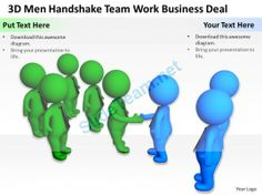3D Men Handshake Team Work Business Deal Ppt Graphics Icons Powerpoint 0529 #Powerpoint #Templates #Infographics