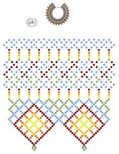 Bead Embroidery Patterns, Beading Patterns Free, Bead Loom Patterns, Beaded Embroidery, Diy Necklace Patterns, Beaded Jewelry Patterns, Bead Loom Bracelets, Bracelet Crafts, Bead Jewellery