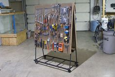 a tool storage rack for the garage: an idea from Geoff - as soon as I get a welder