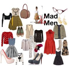 Another BEAUTIFUL inspiration board for all of the Mad Women out there. Mad Women, Chic Outfits, Casual Chic, Photo And Video, Retro, Board, Inspiration, Beautiful, Fashion