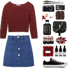 A fashion look from September 2015 featuring Rebecca Minkoff tops, Miss Selfridge mini skirts and Converse sneakers. Browse and shop related looks.