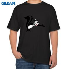2016 Fashion Pepe Le Pew Looney Tunes Tops Tees Casual Plus Size T-Shirts Hip Hop Style Tops Tee S~4XL #Affiliate