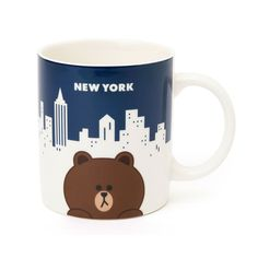 Line Friends Store Hello NEW YORK Official Goods : New York Mug Collection #LineFriends