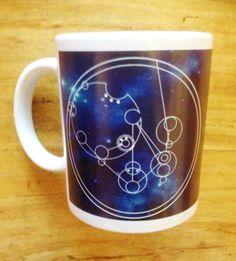 Blue Circular Gallifreyan Personalised Dr Who Mug by Hx5Designs, £9.99