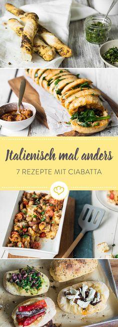 Ciabatta kann mehr, als nur in Öl getunkt zu werden. Vom Sandwich über Brotsalat bis hin zu leckeren Pestostangen bietet es viele Möglichkeiten.