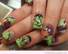 Funny Halloween manicure idea