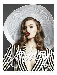 Lindsey by Santiago Mauricio | Wide-brimmed floppy straw hat