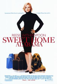"*Sweet Home Alabama (Reese Witherspoon) Favorite line from the movie that we use in our house ""don't let the bought air out"".  Great romance.  I also loved the glass from lightning."