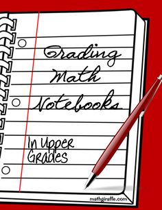 blog post on high school and middle school math notebooks