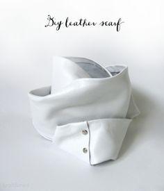 DIY Leather Scarf