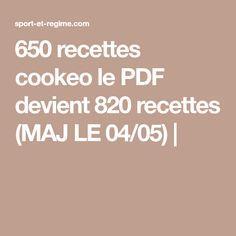 650 recettes cookeo le PDF devient 820 recettes (MAJ LE 04/05)  