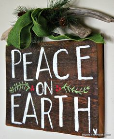 Hand Lettered Peace