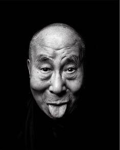 Tenzing Gyatso, XIV Dalai Lama, by Tashi Phuntsok Tibet, Rose Croix, 14th Dalai Lama, Thing 1, Light And Shadow, Funny Faces, Photos, Pictures, Black And White Photography