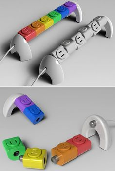 25+ Modern and Creative Electrical Outlets, Power Strips, Sockets and Switches  This entire web post is awesome!!